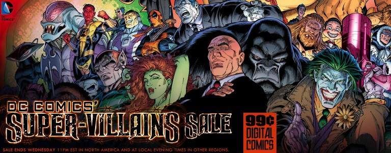 DC Comics Super Villains Sale Over