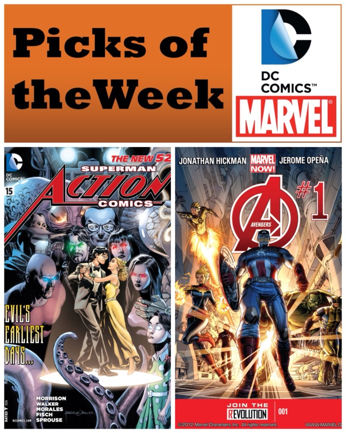Action Comics and Avengers
