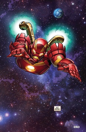 Tony Stark finally head into space - Iron Man #5