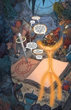 Larfleeze with all his stuff...