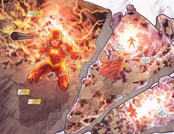 The Flash showing off even more crazy powers.