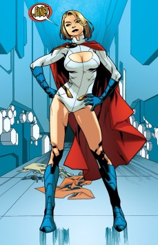 Power Girl has gone back to the boob window design. Well that didn't take long did it?