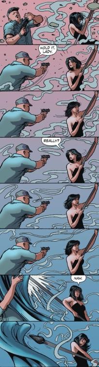 Huntress toying with people is always fun.