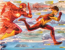 Classic Flash Vs Kid Flash race! WOOP!