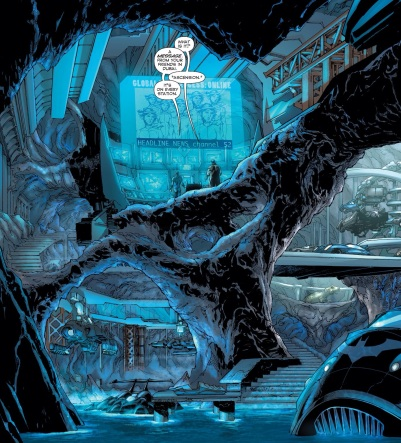 I love it when Jim Lee draws the Batcave