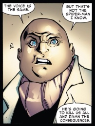 I like how Spidey's villains are the first to notice something off about him these days.