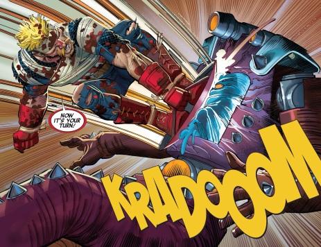 KRADOOM! Right in the kisser!