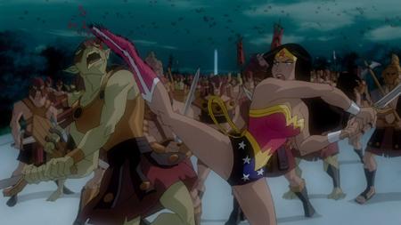 Wonder Woman kick
