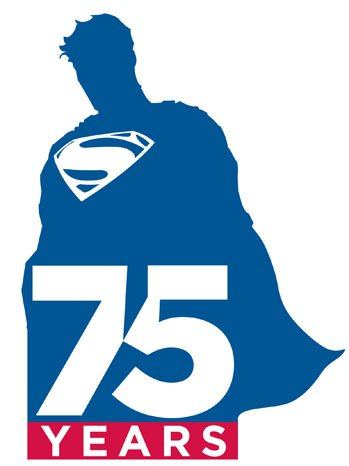 Superman 75 years logo