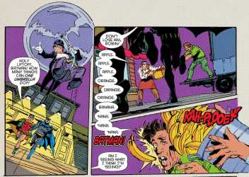 75 years of Batman comic books all lead up to this terrible banana joke.....and yes I laughed...