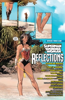 I could read a whole book featuring Wonder Woman walking around beaches....